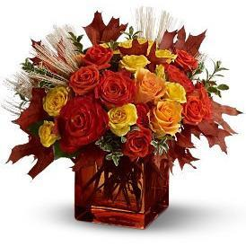 Fine Fall Roses and Leaves - flowersbypouparina.com