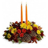 Harvest Glow Candles Centerpiece - flowersbypouparina.com