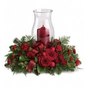 Holiday Glow Centerpiece - flowersbypouparina.com