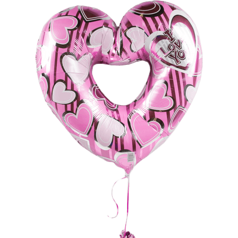 I love you Pink Heart Balloon - flowersbypouparina.com