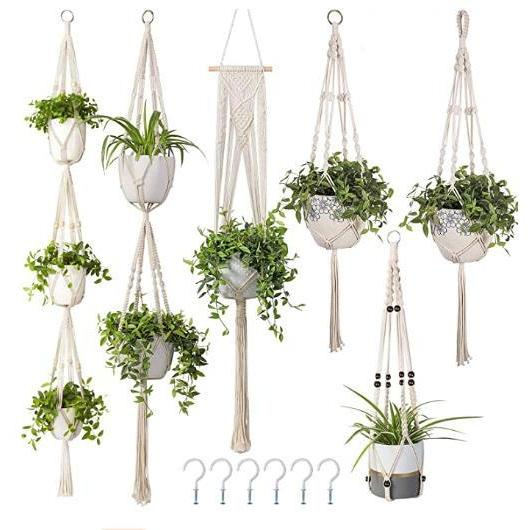 Macramets with Green Plants - Assortment - flowersbypouparina.com