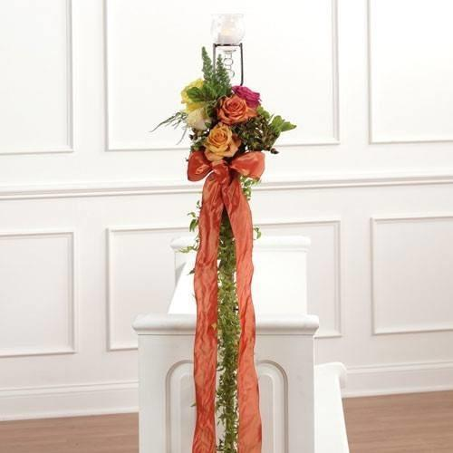 Multicolored Tall Pew Decoration - flowersbypouparina.com