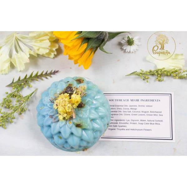Our signature Handmade Organic Floral Soap and Candle - flowersbypouparina.com