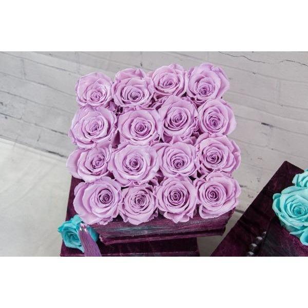 Preserved Roses - Aqua Blue and Lavender - flowersbypouparina.com