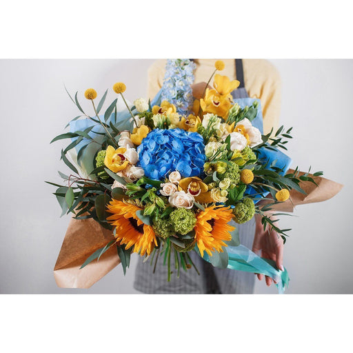 Summer Mix with Hydrangeas and Orchids - flowersbypouparina.com