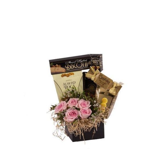 Sweet Treat with Flowers Basket - flowersbypouparina.com