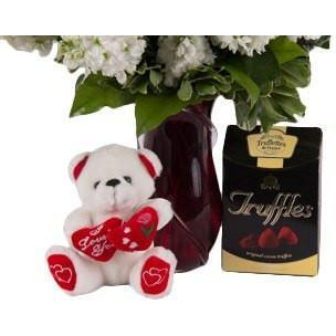Truffles of France and Teddy Bear - Upgrade - flowersbypouparina.com