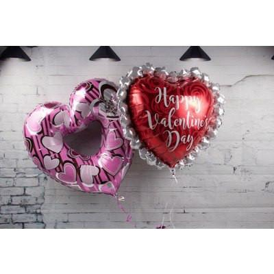 Two Big Valentine's Balloons - flowersbypouparina.com