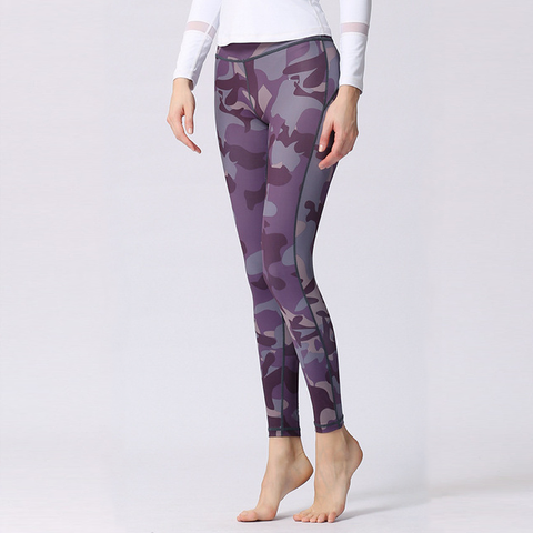 """Purple Camouflage"" Leggings - LovelyMojo"
