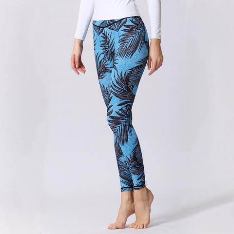 """Tropical Blues"" Leggings - LovelyMojo"