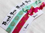 "Custom Handmade ""Thank You"" Hair Ties for Birthdays - LovelyMojo"