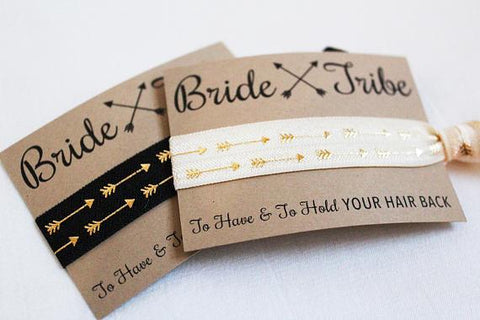 """Bride Tribe"" Elastic Ties - LovelyMojo"