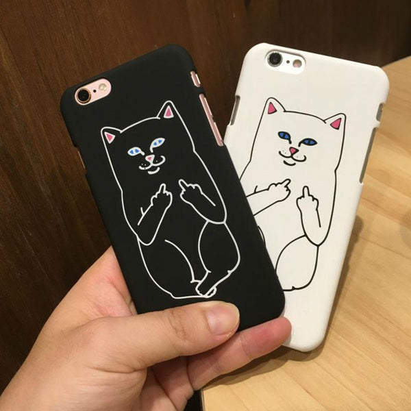 """Flipping The Bird Cat"" iPhone Cases - LovelyMojo"