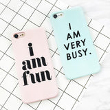 """I AM VERY BUSY"" iPhone Case - LovelyMojo"