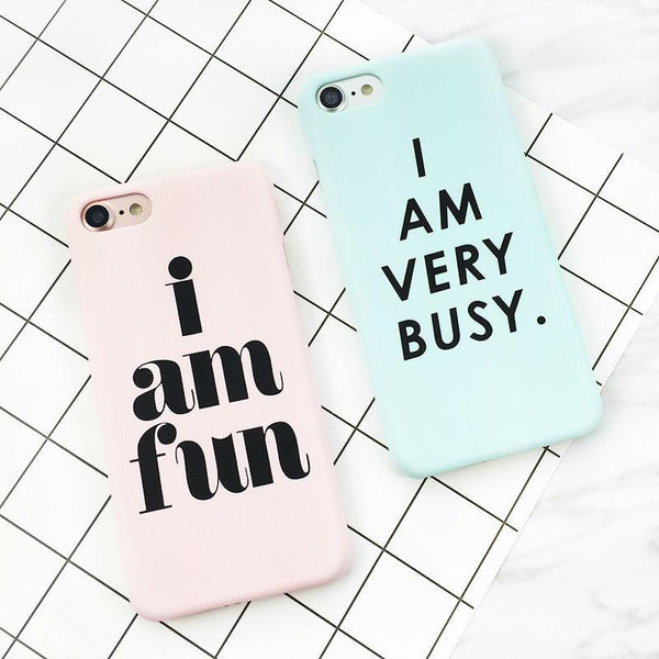 """I AM VERY BUSY"" iPhone Case"