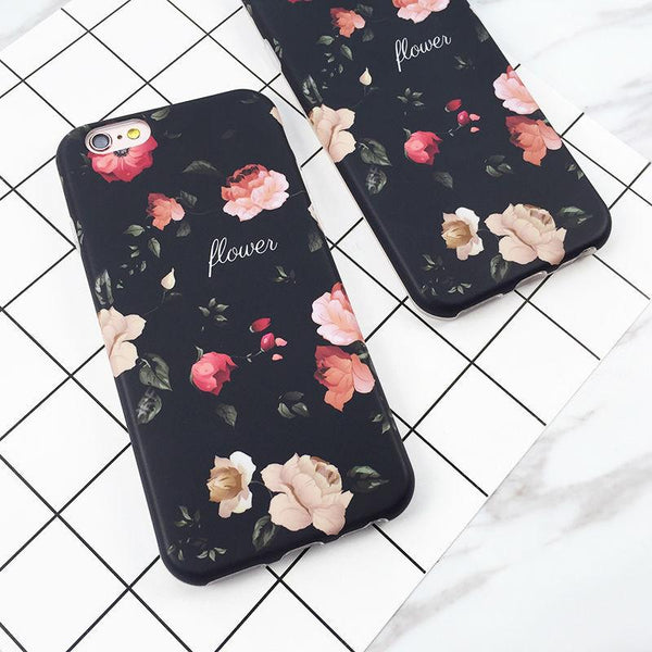 """Classical Retro Flowers"" iPhone Case"