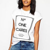 """No One Cares"" T-Shirt - LovelyMojo"