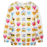 High Quality Women's Emoji Print Sweatshirt - LovelyMojo