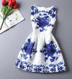 Blue Flower Vestido De Festa Dress - LovelyMojo