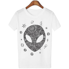 Zentangle Alien T-Shirt - LovelyMojo