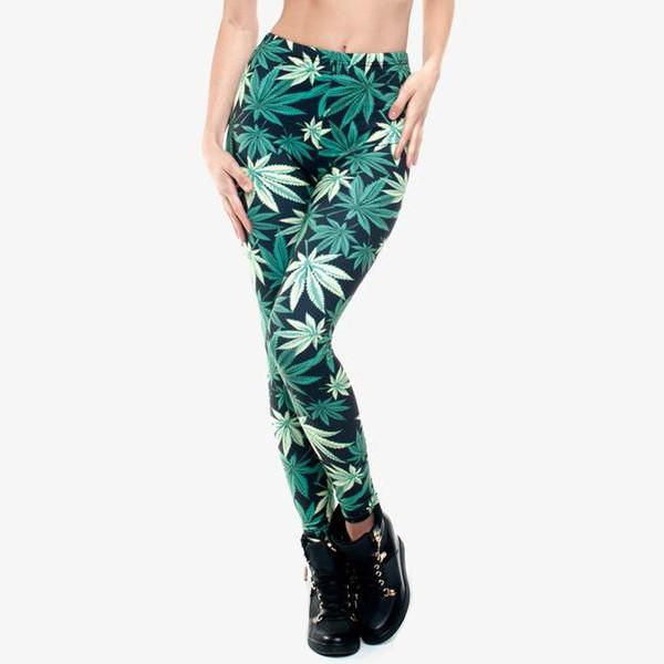 """Black Weed"" Leggings - LovelyMojo"