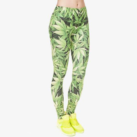 """Weed"" Leggings - LovelyMojo"