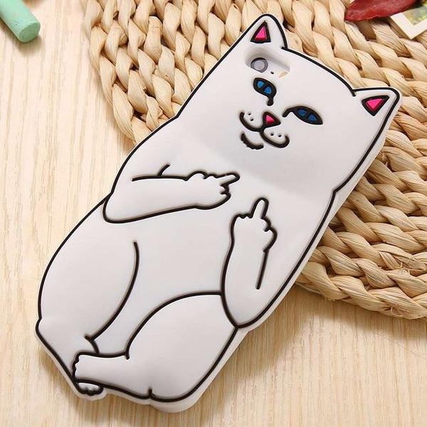 """Flipping The Bird Cat"" iPhone Case"