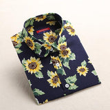 """Dark"" Floral Women's Shirt - LovelyMojo"