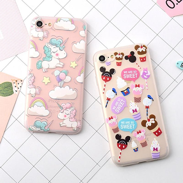 """Unicorns & Candy"" iPhone Case"