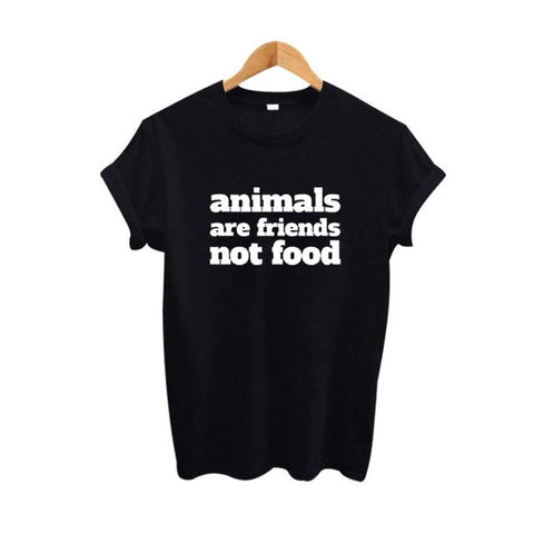 """Animals Are Friends, Not Food"" T-Shirt - LovelyMojo"