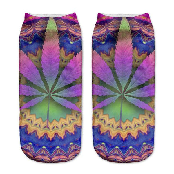 Colorful Weed Socks - LovelyMojo