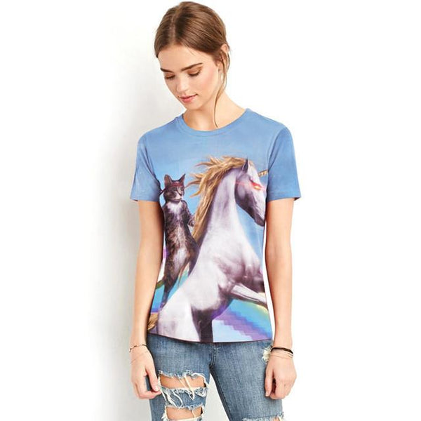 """Unicorn Cat"" T-Shirt - LovelyMojo"