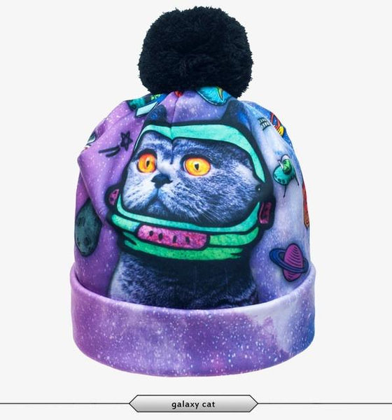 Galaxy Cat Beanie - LovelyMojo