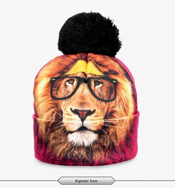 Hipster Lion Beanie