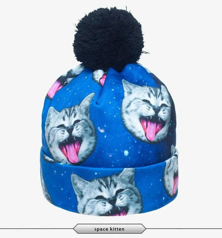 Space Cats Beanie - LovelyMojo