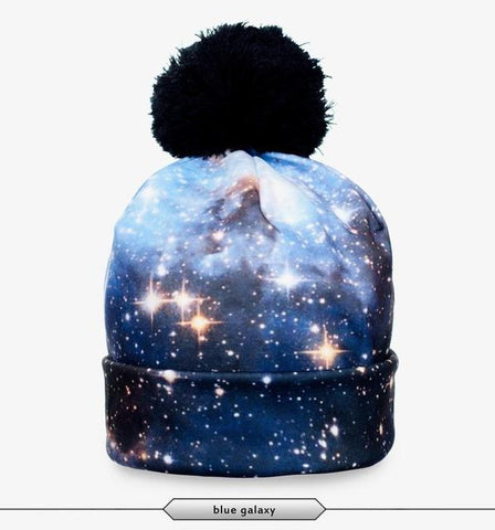Blue Galaxy Beanie - LovelyMojo