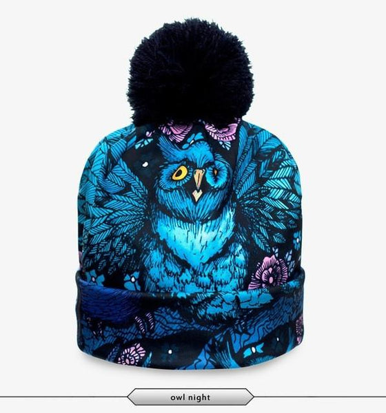 Night Owl Beanie - LovelyMojo