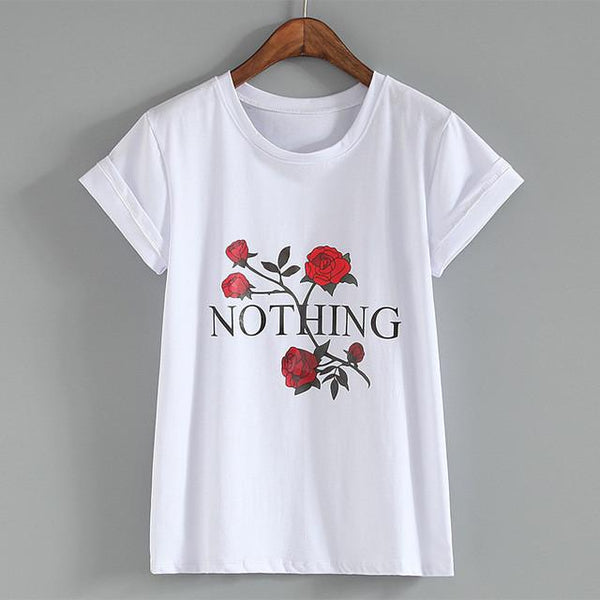 """Nothing"" T-shirt - LovelyMojo"