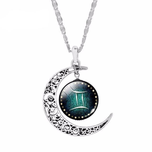 FREE Zodiac Crescent Moon Necklace - FLASH SALE - LovelyMojo