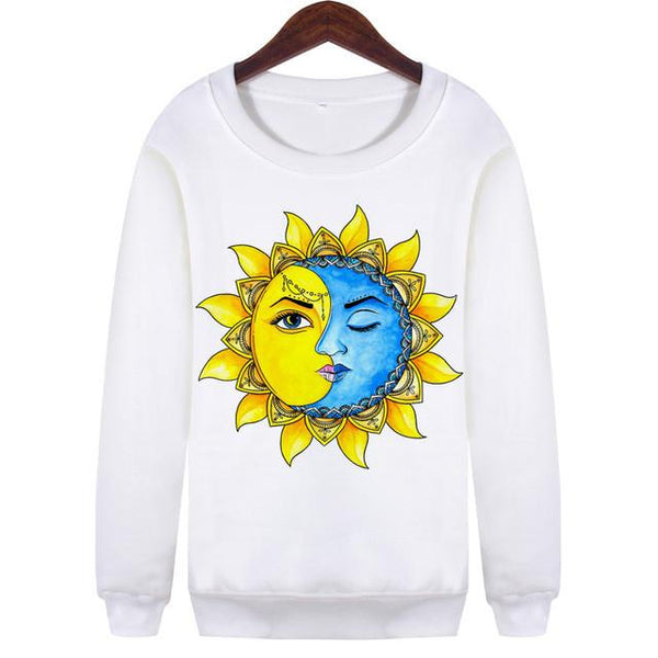 """Sun & Moon"" Sweatshirt - LovelyMojo"
