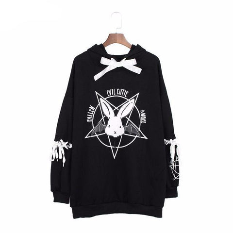 """Evil Cutie Angel"" Sweatshirt - LovelyMojo"