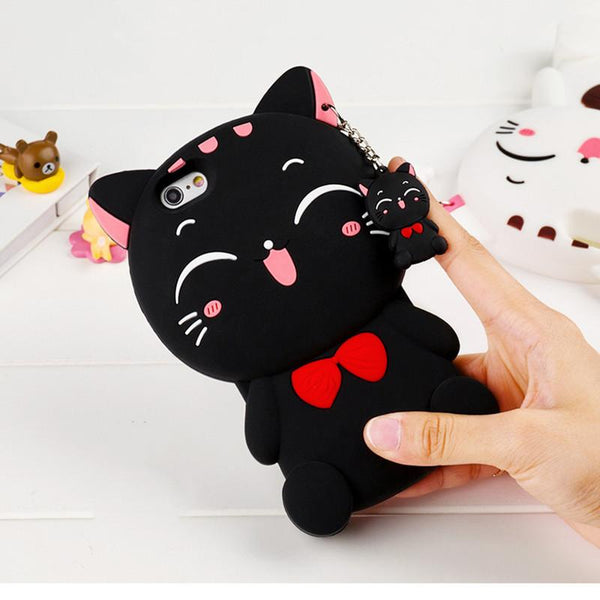 """Cute 3D Cat Bow"" iPhone Case"