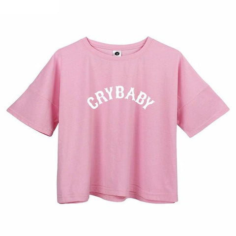 """CRYBABY"" Crop Tee - LovelyMojo"