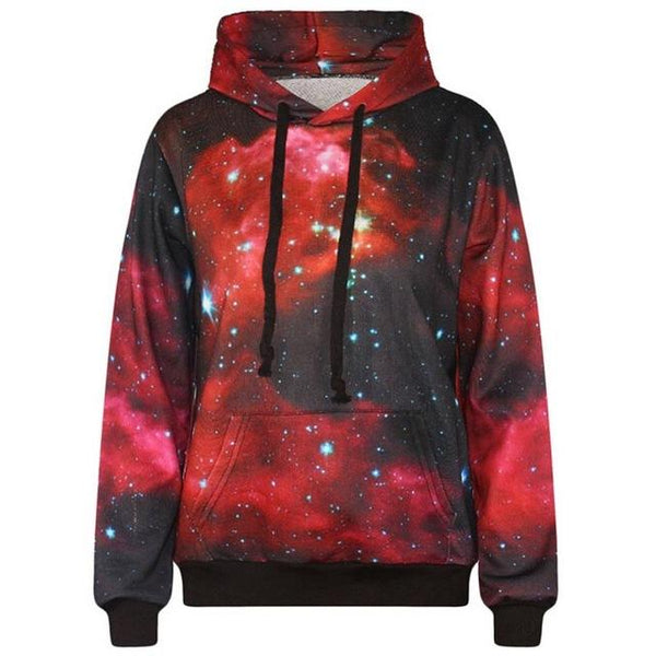 """Red Galaxy"" Hoodie - LovelyMojo"
