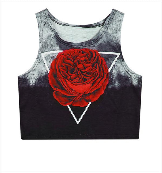 """Rose In The Dark"" Crop Top - LovelyMojo"