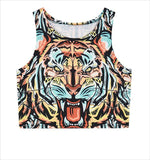 """Tiger Cell Design"" Crop Top - LovelyMojo"