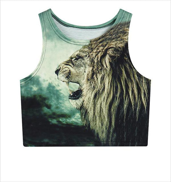 """Fierce Lion"" Crop Top - LovelyMojo"