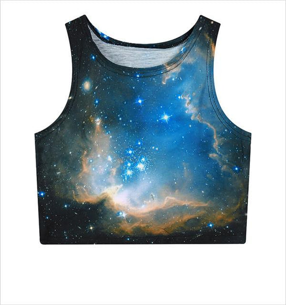 """Galaxy"" Crop Top - LovelyMojo"