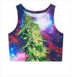 """Weed Flower"" Crop Top - LovelyMojo"