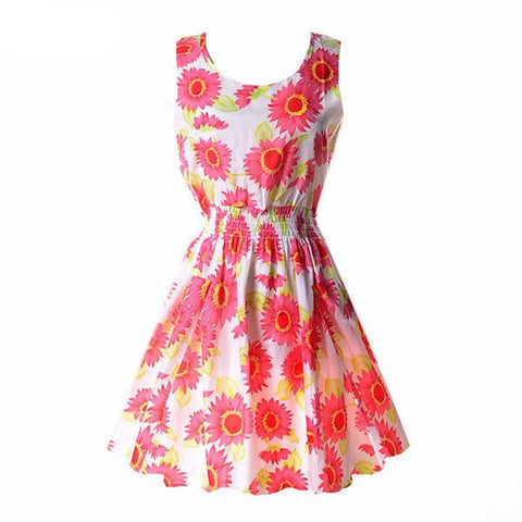"""Floral Girl"" Summer Dress - LovelyMojo"